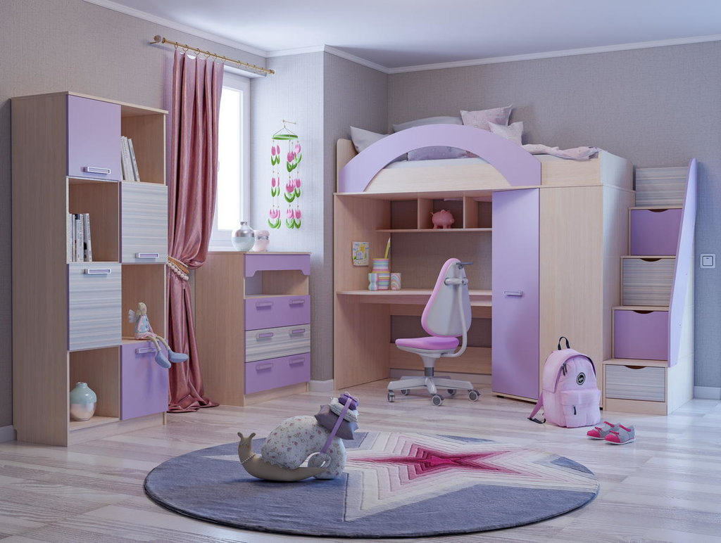 Модульная мебель в детскую Рико-М: Модульная мебель в детскую Рико-М в Стильная мебель