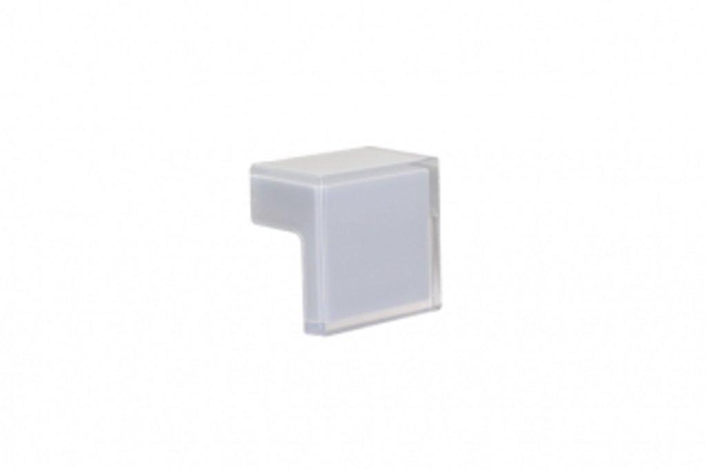 """Мебельная фурнитура """"НОВИНКИ"""": Ручка-кнопка 32мм, отделка транспарент + серый в МебельСтрой"""