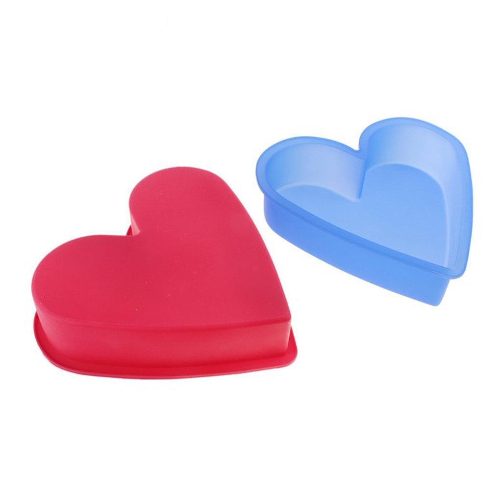 """Силиконовые формы для выпечки: Форма для выпечки 26х6 см """"Сердце"""", цвет МИКС в ТортExpress"""