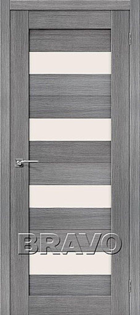 Двери экошпон BRAVO: Порта-23 Grey Veralinga в STEKLOMASTER