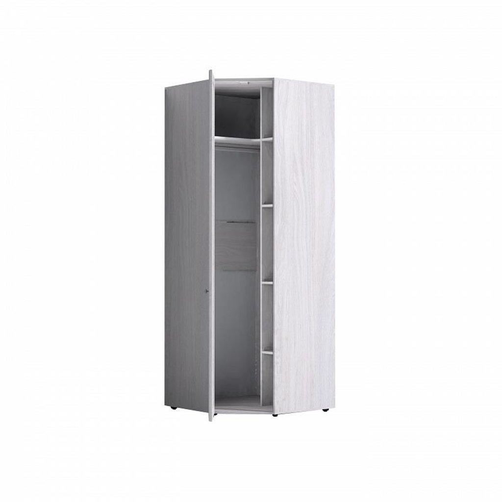 Шкафы для одежды и белья: Шкаф угловой PAOLA 156 патина (Зеркало лев.) в Стильная мебель