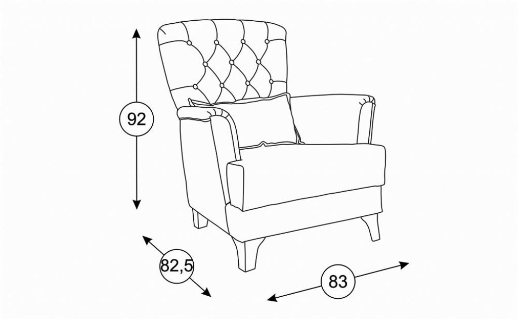 Кресла Ирис: Кресло Ирис ТД 962 в Диван Плюс