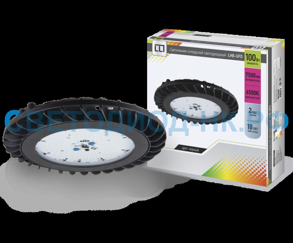 Промышленные светильники: Светильник складской светодиодный LHB-UFO 100Вт 230В 6500К 7500Лм IP65 LLT в СВЕТОВОД