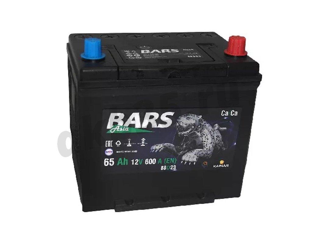 Аккумуляторы: BARS 65 А/ч Обратный Азия 75D23L в Планета АКБ
