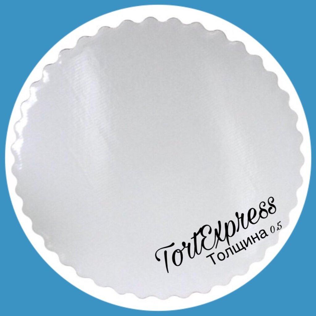 Салфетки, подложки: Подложка № 32 белая толщина 2 мм в ТортExpress