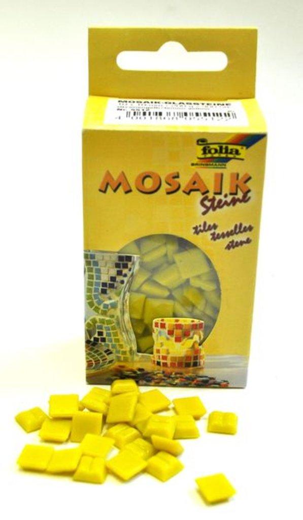 Мозаика: Folia Набор стеклянной мозаики, 1х1см, 300шт., лимонный в Шедевр, художественный салон