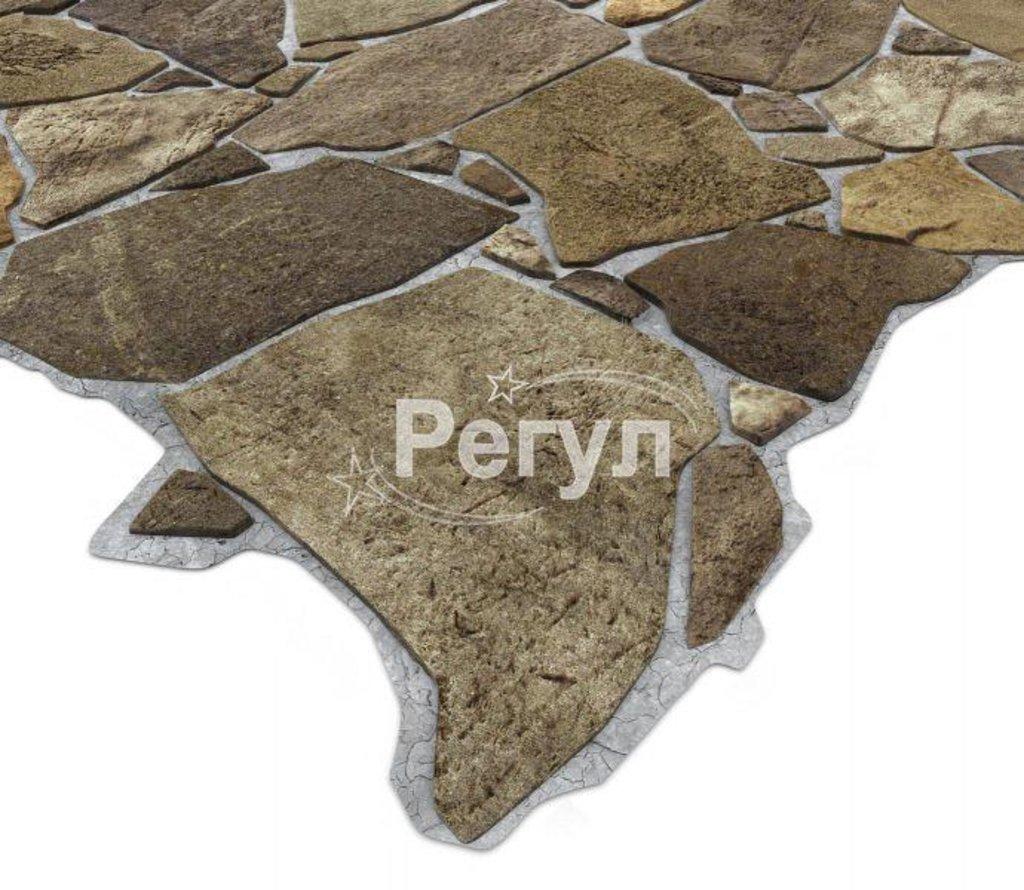 Панели ПВХ: Камень Дикий коричневый в Мир Потолков
