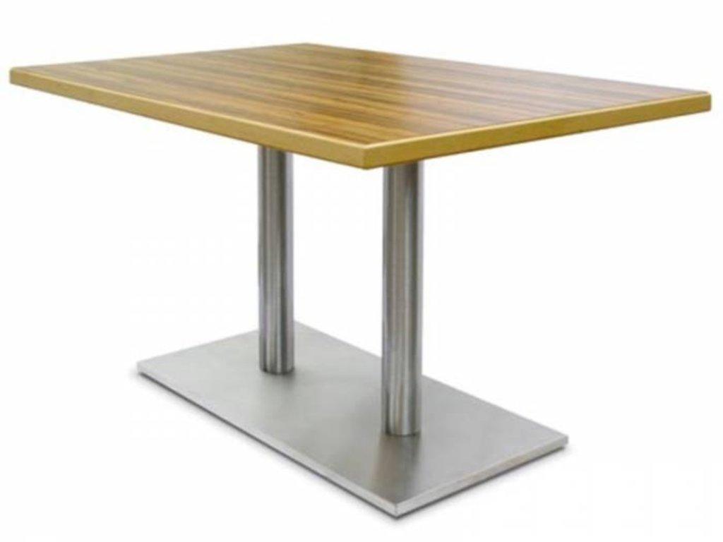 Столы для ресторана, бара, кафе, столовых: Стол прямоугольник 1200х800, подстолья 1075 ЕМ нержавейка (матовое) в АРТ-МЕБЕЛЬ НН