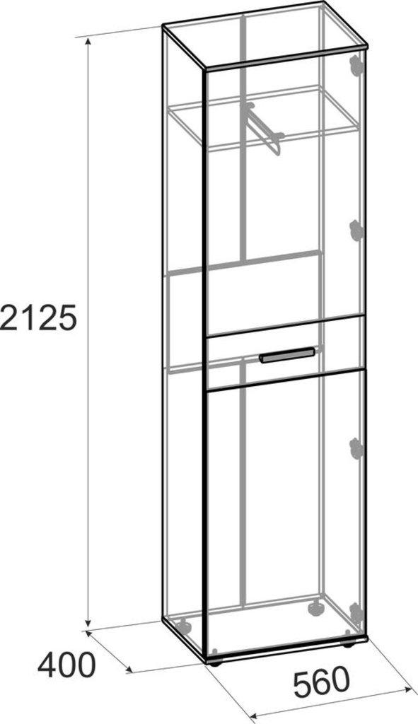 Шкафы, общие: Шкаф для одежды и белья Норвуд 71 в Стильная мебель