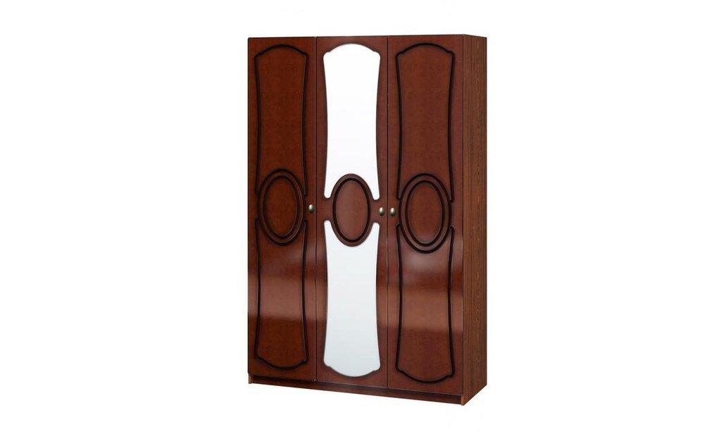 Спальный гарнитур Идиллия (лак): Шкаф ШР-3 Идиллия (лак), одежда и бельё,  без ящиков, 1 зеркало в Уютный дом