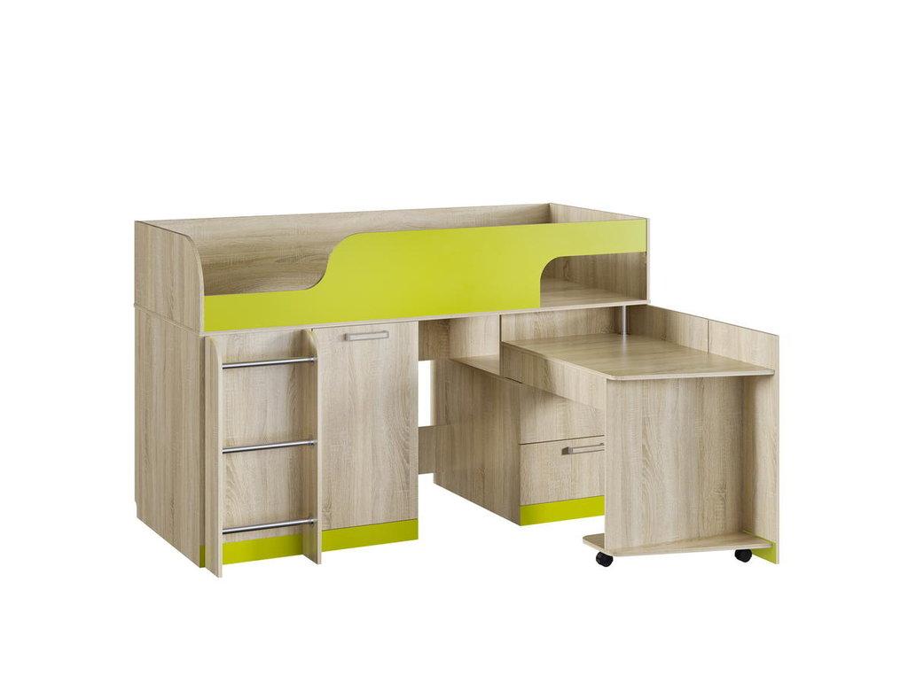 Детские и подростковые кровати: Кровать НМ 011.55 Акварель (800х1900, усилен. настил) в Стильная мебель