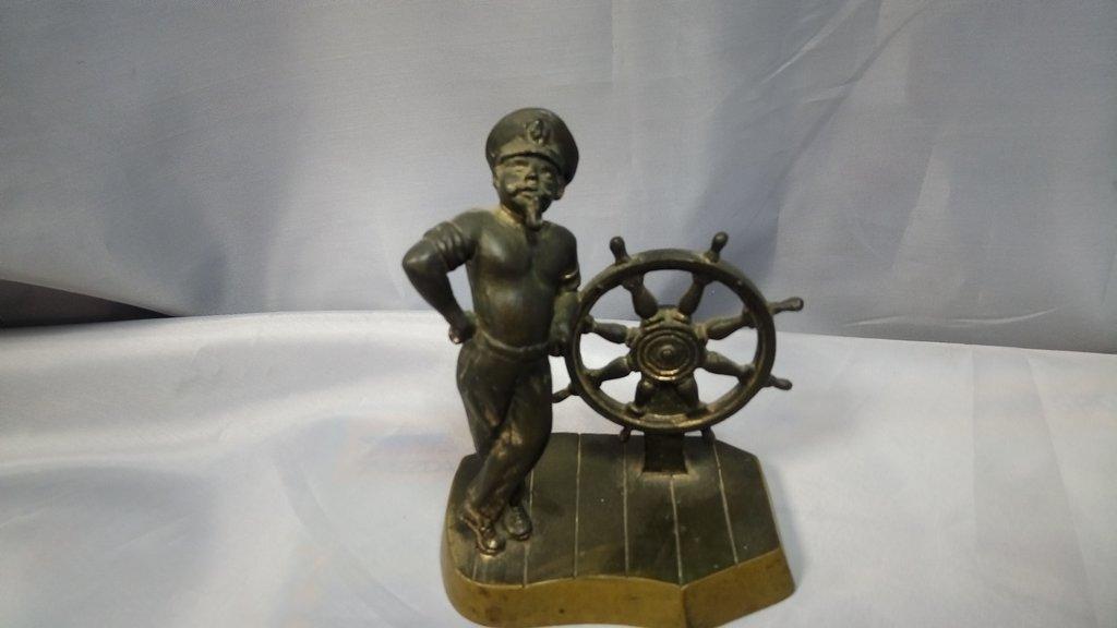 """Старые вещи: Фигурка статуэтка """"Моряк капитан у штурвала"""" в Модели кораблей"""