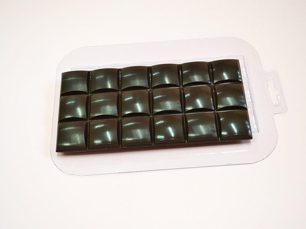 Пластиковые формы для шоколада: Форма для шоколада Плитка Полуполосатик в ТортExpress