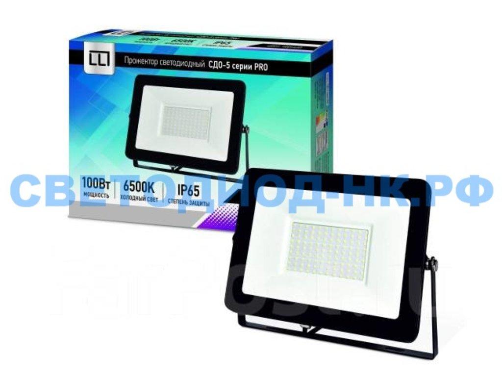 Светодиодные прожекторы: Прожектор светодиодный СДО-5-100 серии PRO 100Вт 230В 6500К 9500Лм IP65 LLT в СВЕТОВОД