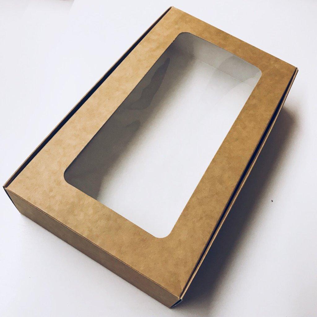 Упаковка: Коробка для зефира 280*165*55 с окном в ТортExpress