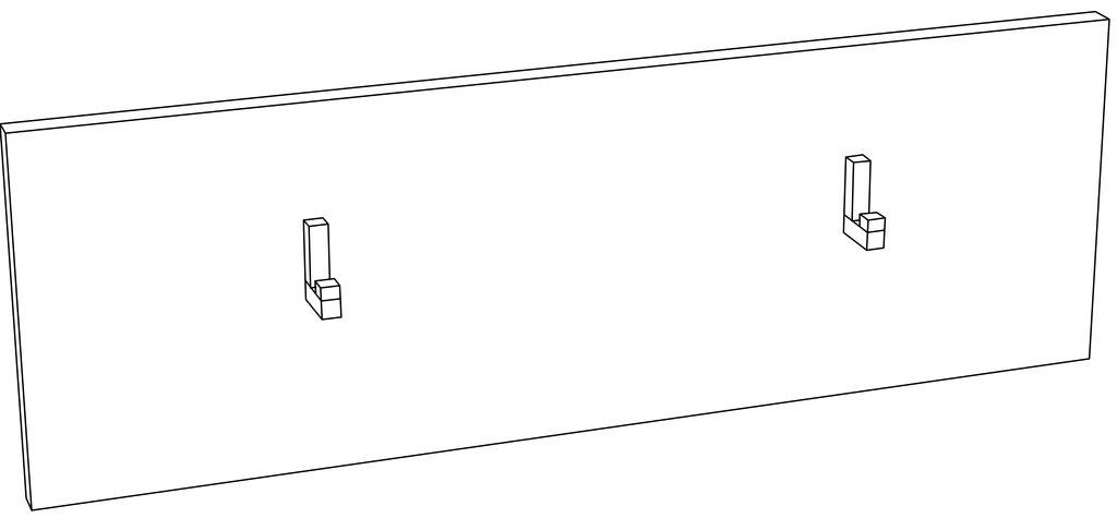 Мебель для прихожих, общее: Вешалка LIVORNO НМ 013.33-01 в Стильная мебель