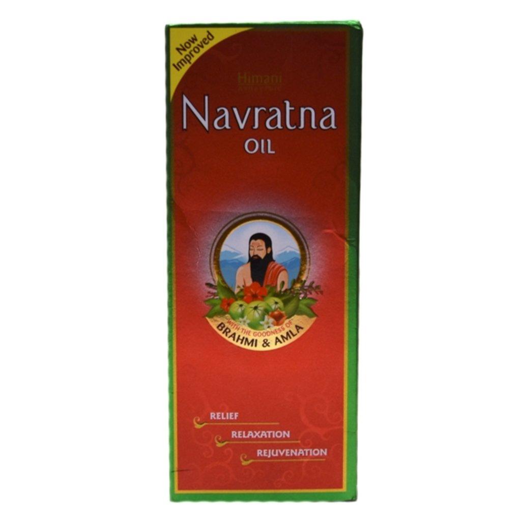 Масла, бальзамы: Navratna oil - Brahmi and Amla (Himani) в Шамбала, индийская лавка
