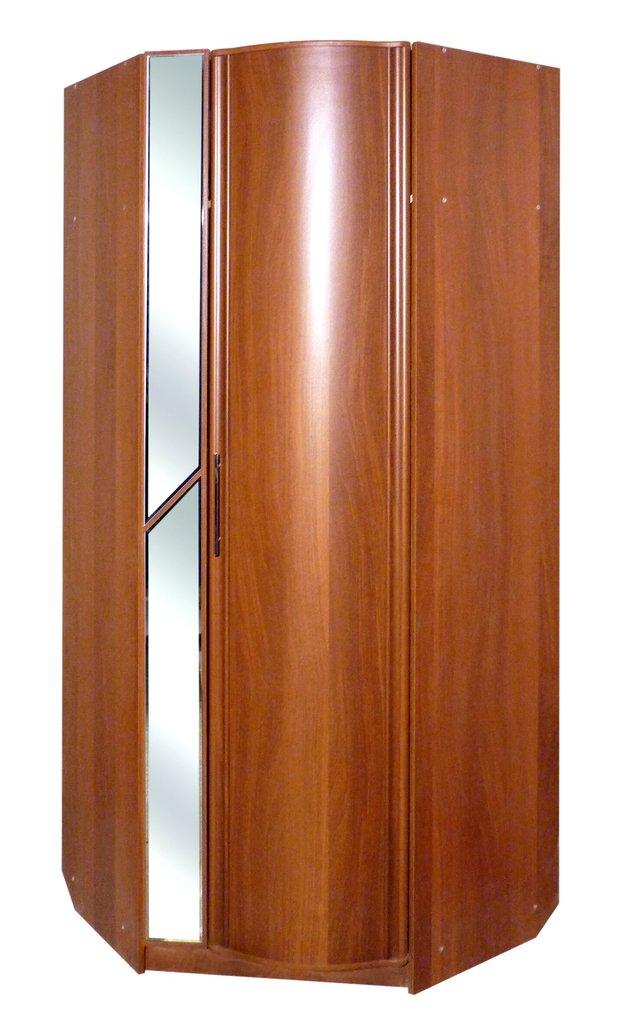 Шкафы для одежды и белья: Шкаф угловой с зеркалом Кристина в Стильная мебель