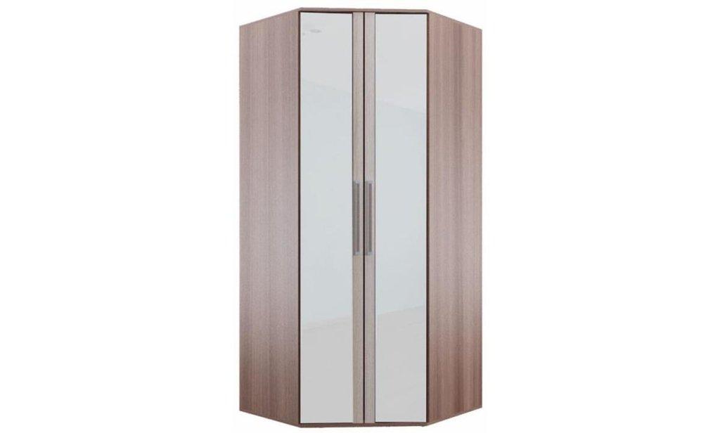 Спальный гарнитур Оливия: Шкаф угловой ШРУ Оливия 2-дверный, одежда и бельё, без ящиков, 2 зеркала в Уютный дом