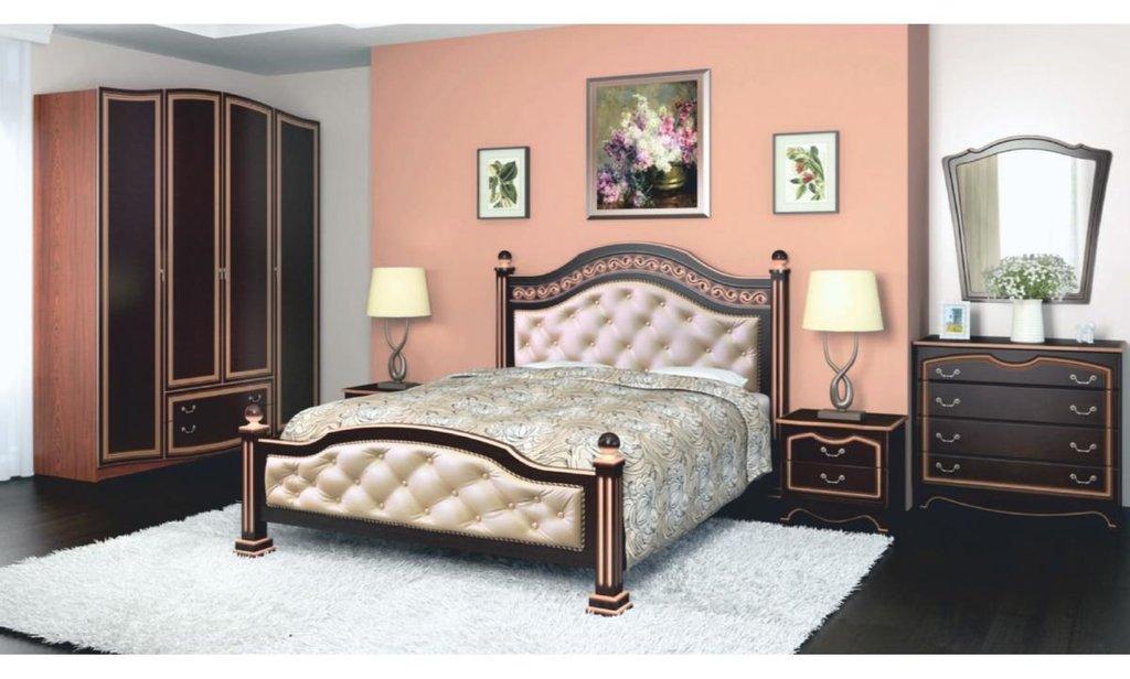 Спальный гарнитур Оникс (лак): Тумба прикроватная Оникс (лак) 2 ящика в Уютный дом