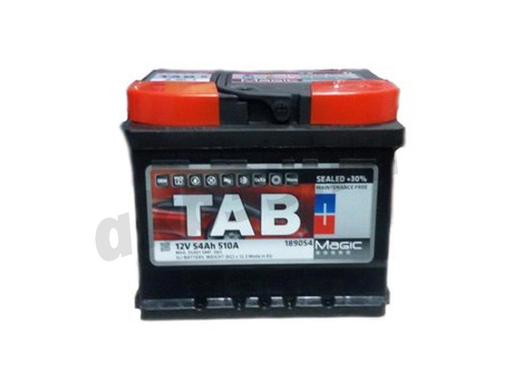 Аккумуляторы: TAB 54 А/ч Обратный Низкий MAGIC в Планета АКБ