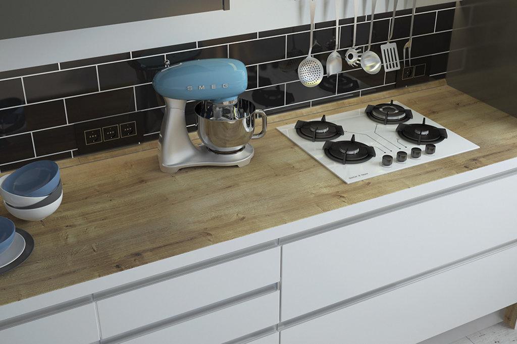 Кухни: Кухня из акрила Интегро в Стильная мебель