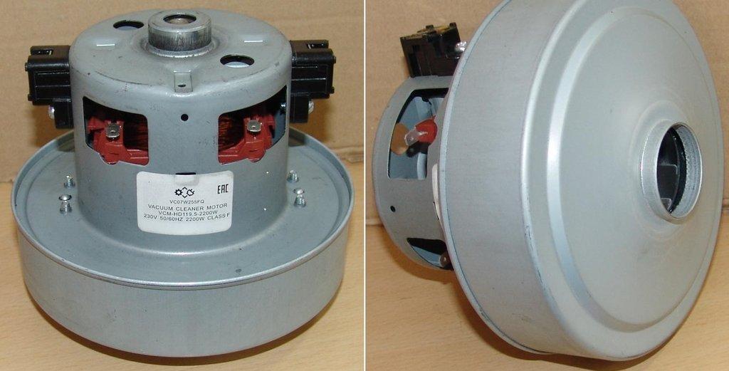 Запчасти для пылесосов: Мотор (двигатель) пылесоса 2200W, H=119mm, D135; VCM-HD119,5-2200W; VC07W255FQ в АНС ПРОЕКТ, ООО, Сервисный центр