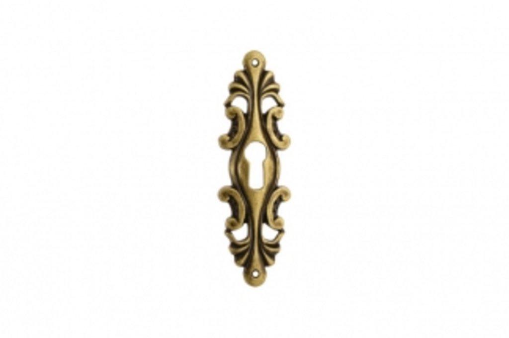 """Коллекция КЛАССИКА: Накладка вертикальная под ключ, отделка бронза античная """"Флоренция"""" в МебельСтрой"""