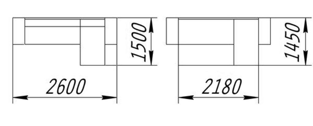 Диваны и мягкие кресла: Угловой диван Роял (Еврокнижка) в Стильная мебель