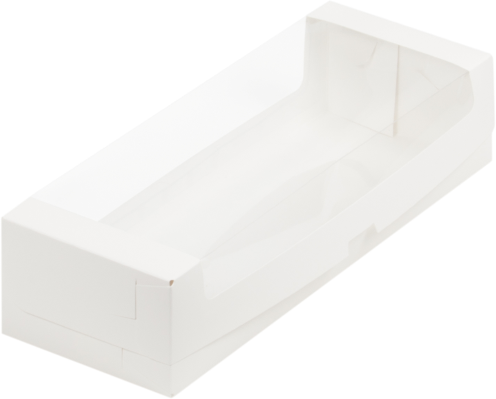 Коробки для кондитерских изделий: Коробка под рулет с окном 300*110*80 (белая) в ТортExpress