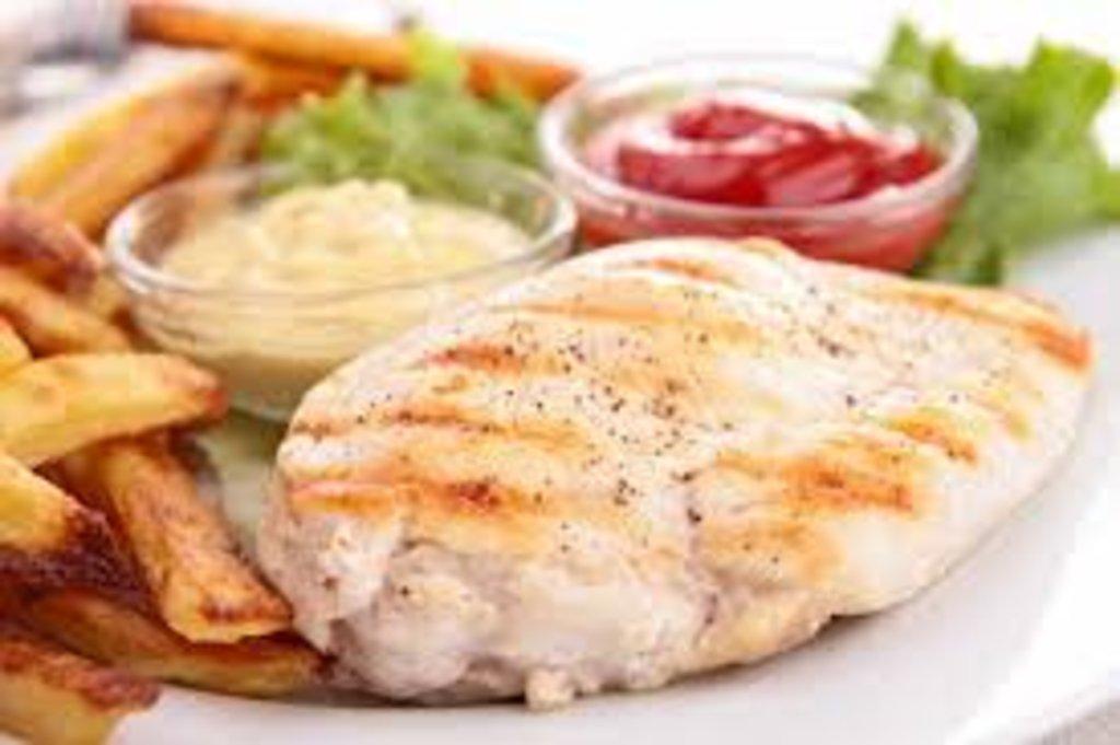 Вторник: Куриная грудка в горчично-соевом маринаде с гарниром (280 г) в Смак-нк.рф