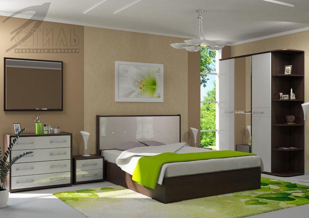 Мебель для спальни Луиза (венге / белый металлик): Комод Луиза (венге / белый металлик) в Диван Плюс