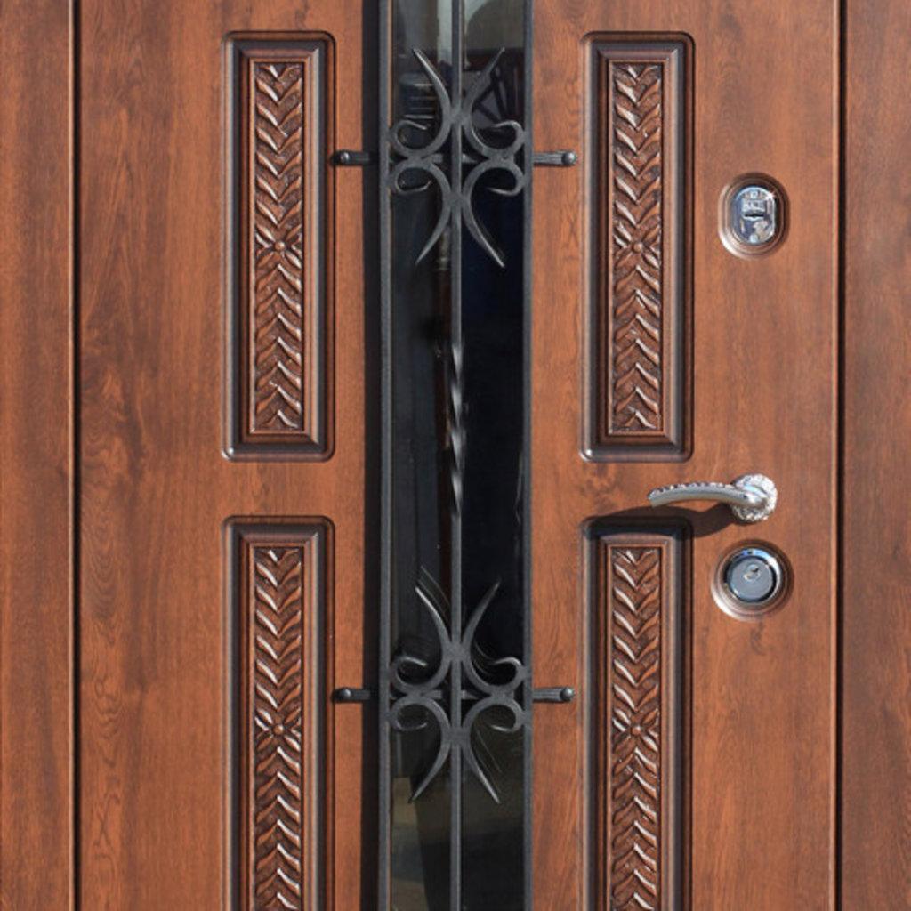 Входные двери (премиум)  от 90-110мм: Входная дверь  VIKONT в STEKLOMASTER