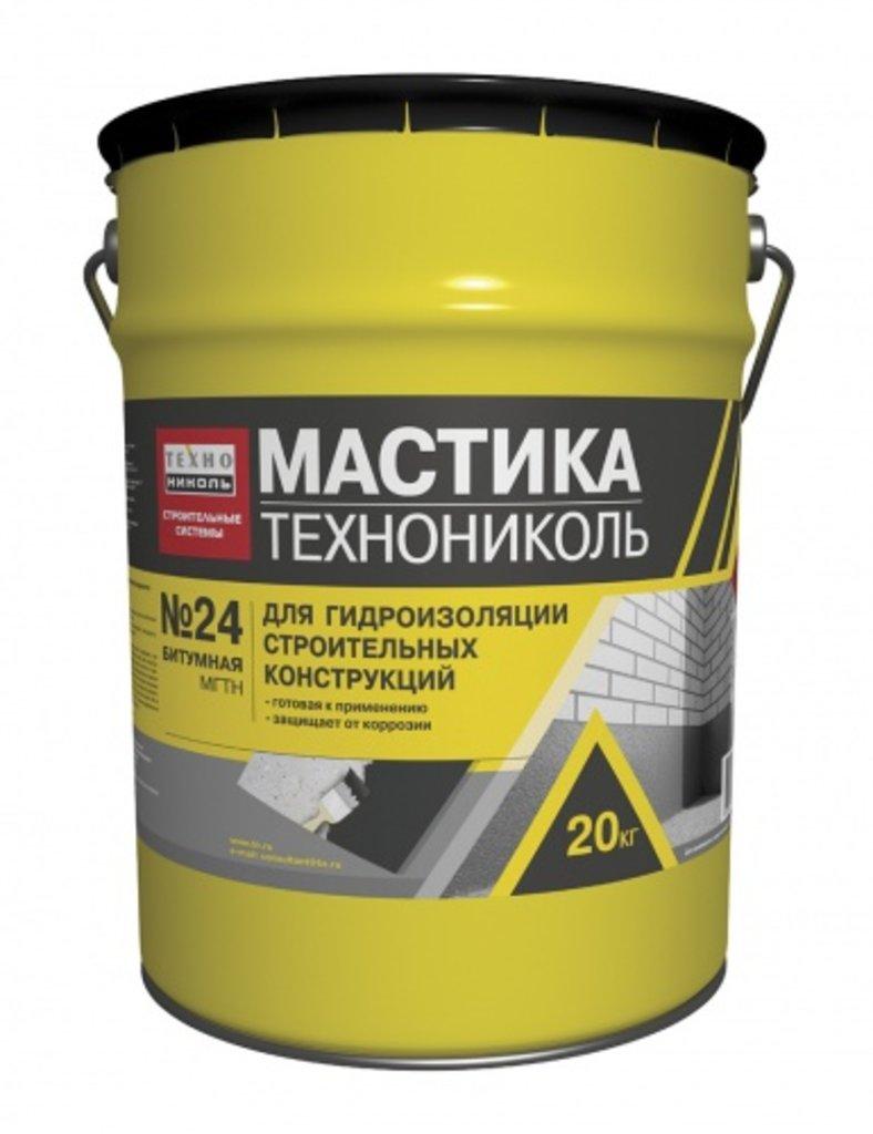 Битум | наплавляемая кровля: Мастика гидроизоляционная ТЕХНОНИКОЛЬ №24 МГТН ведро 20 кг в 100 пудов