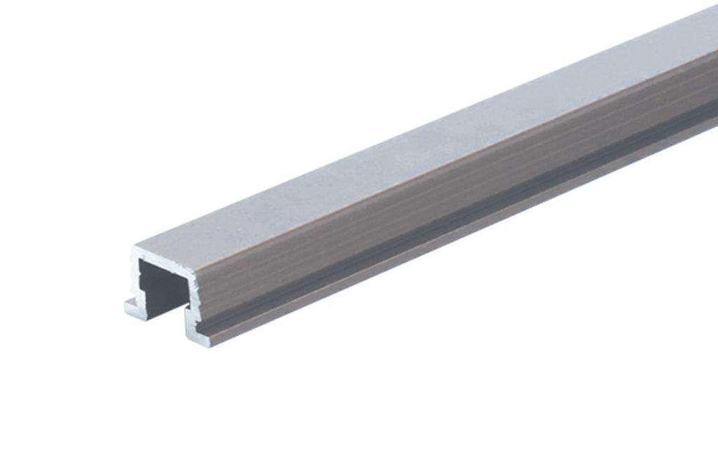 Система раздвижных дверей LIVING BASE: Направляющая верхняя врезная, L=3000мм, отделка алюминий в МебельСтрой