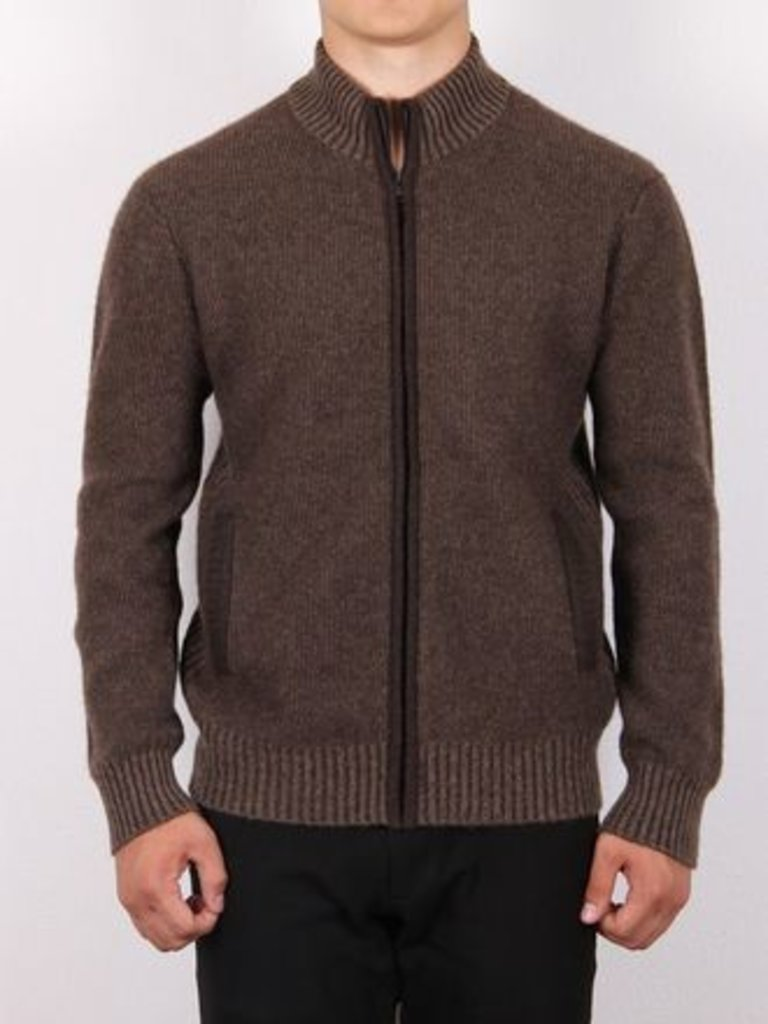 Мужская одежда: Кофта из шерсти яка на замке в Сельский магазин