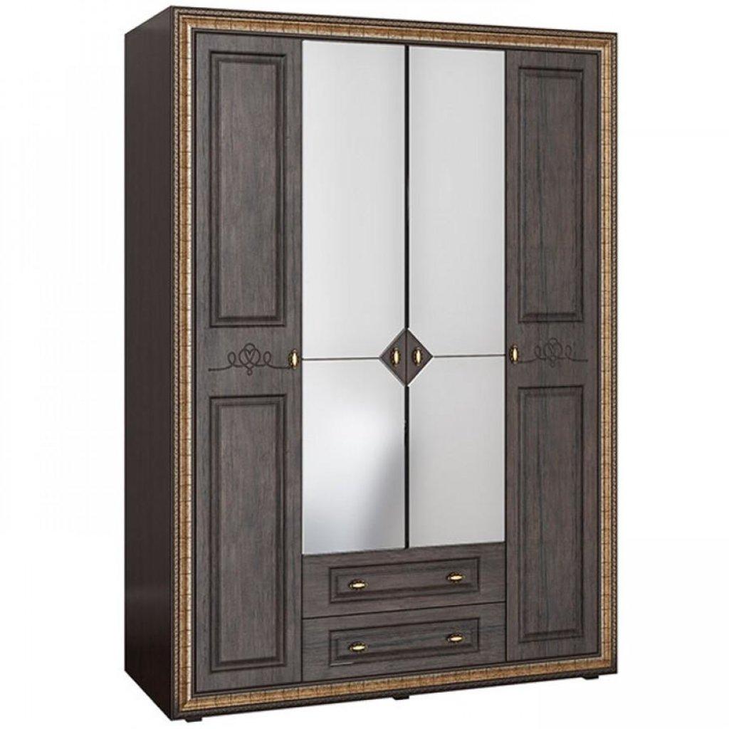 Спальня Версаль. Доступные модули: Шкаф 4-х створчатый с зеркалом Версаль ВР-109 (2280х1600х594) в Уютный дом