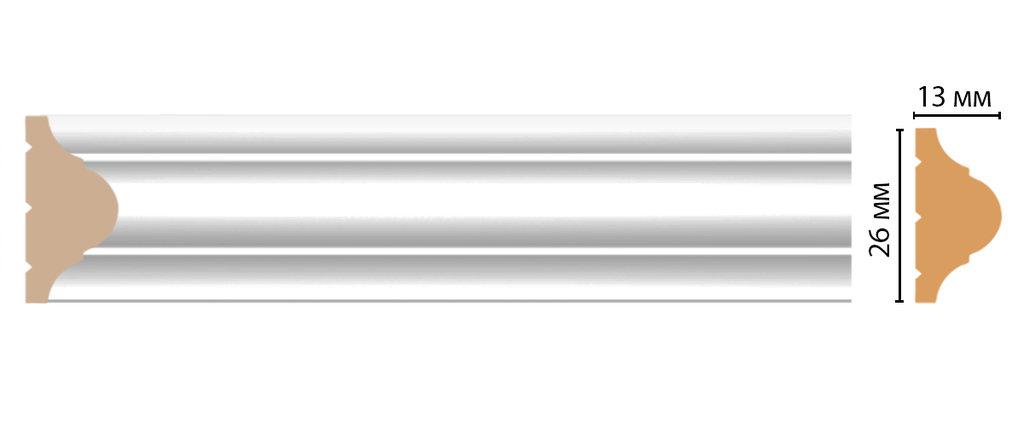 Молдинги: Цветной молдинг DECOMASTER D001-114 (26*13*2400) в Мир Потолков