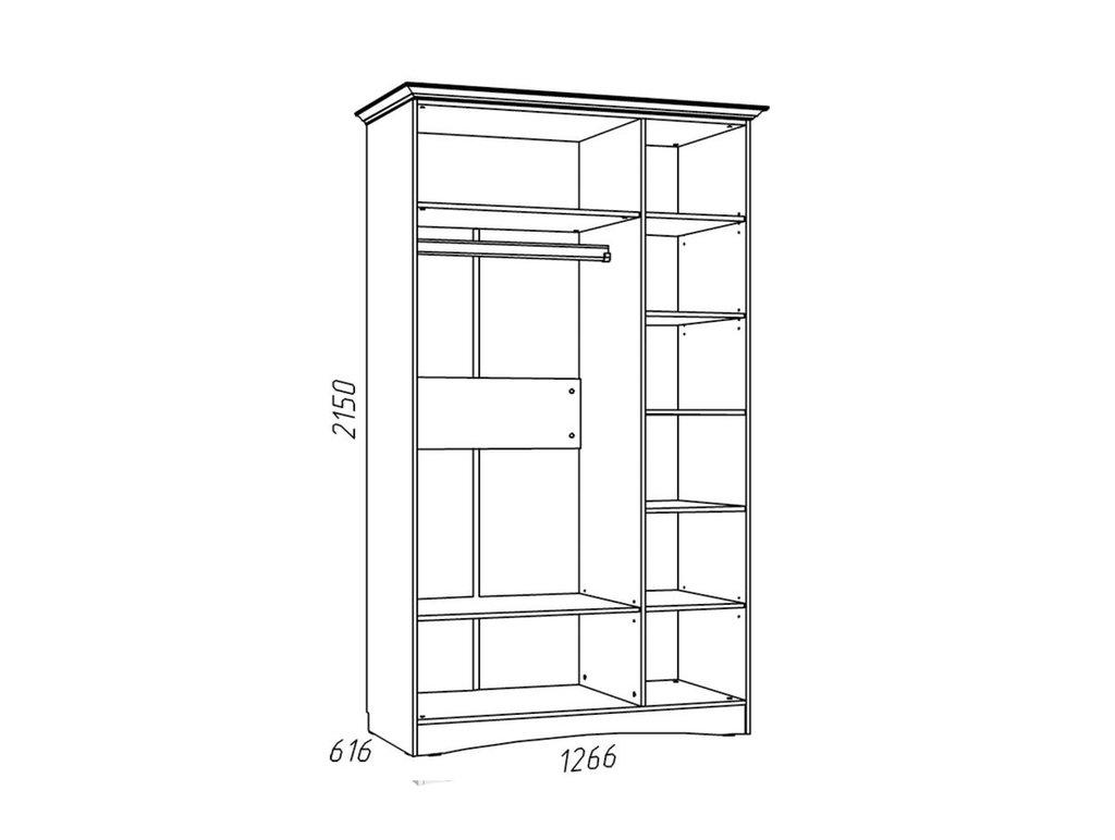 Детские шкафы и стеллажи: Шкаф комбинированный НМ 009.17 Прованс в Стильная мебель