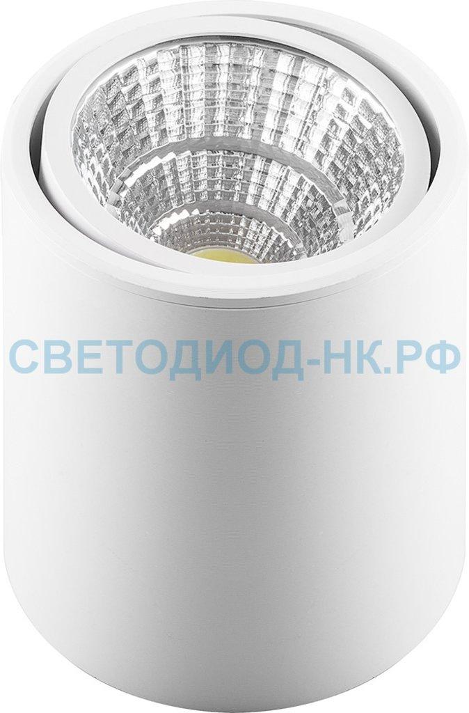 Накладные поворотные светильники: AL516, 10W, 800Lm, 4000K, белый, поворотный в СВЕТОВОД