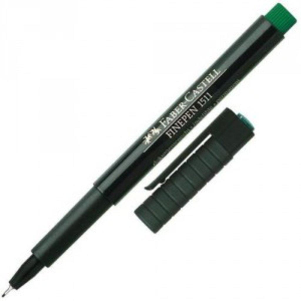 Ручки капиллярные: Ручка капиллярная Faber-Castell Finepen 1511, 0.4мм, зелёная в Шедевр, художественный салон