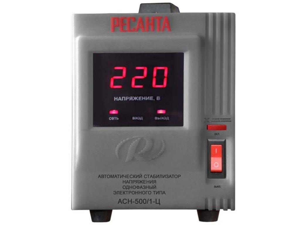 Электронного типа с цифровым дисплеем: Однофазный стабилизатор электронного типа с цифровым дисплеем РЕСАНТА АСН-500/1-Ц в РоторСервис, сервисный центр, ИП Ермолаев Д. И.