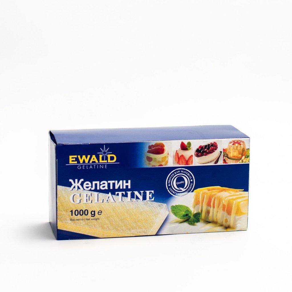 Желатин, агар-агар, загустители: Листовой желатин Ewald 1 кг ( 200 листов) в ТортExpress