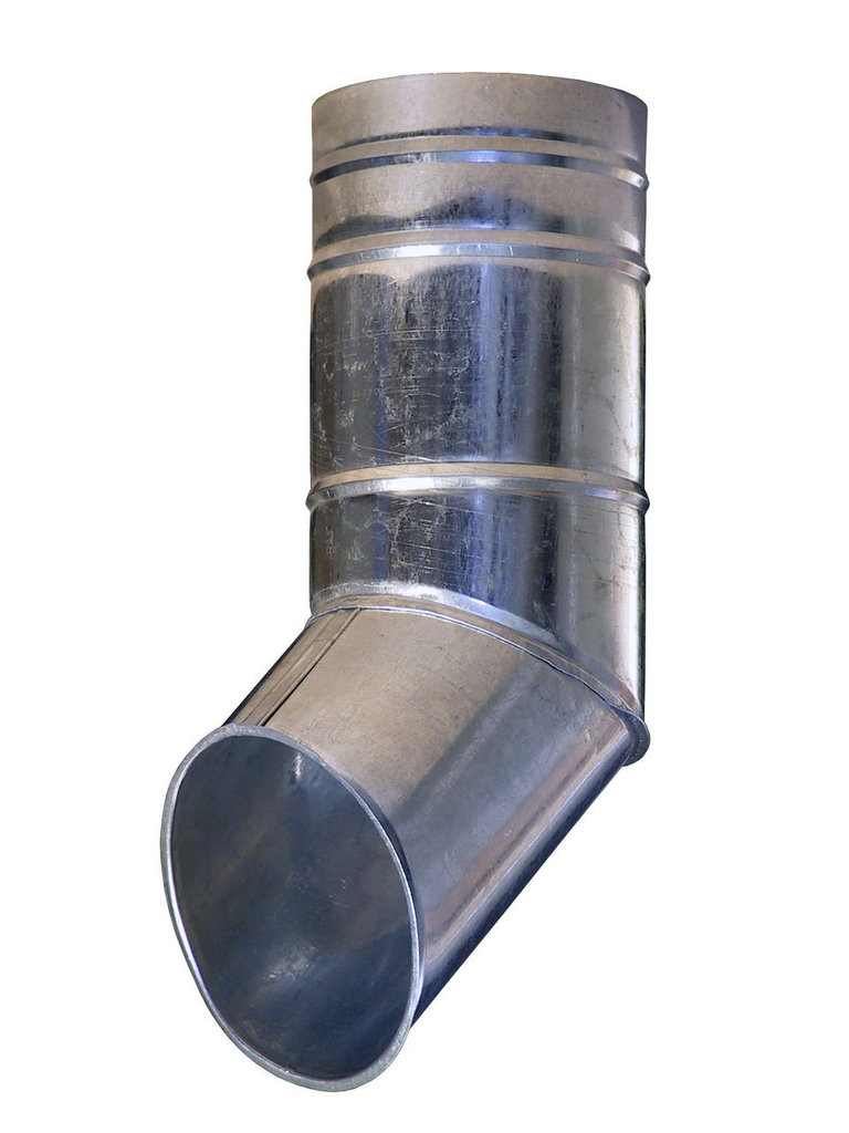 Система водостока: Колено трубы из оцинкованной стали в Теплолюкс-К, инженерная компания