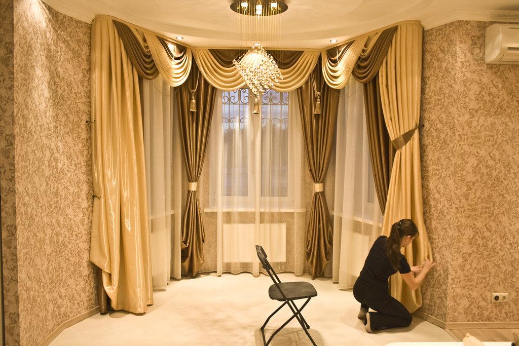 Портьерные ткани, шторы: Дизайн штор в Дизайн-студия Эльф-Декор