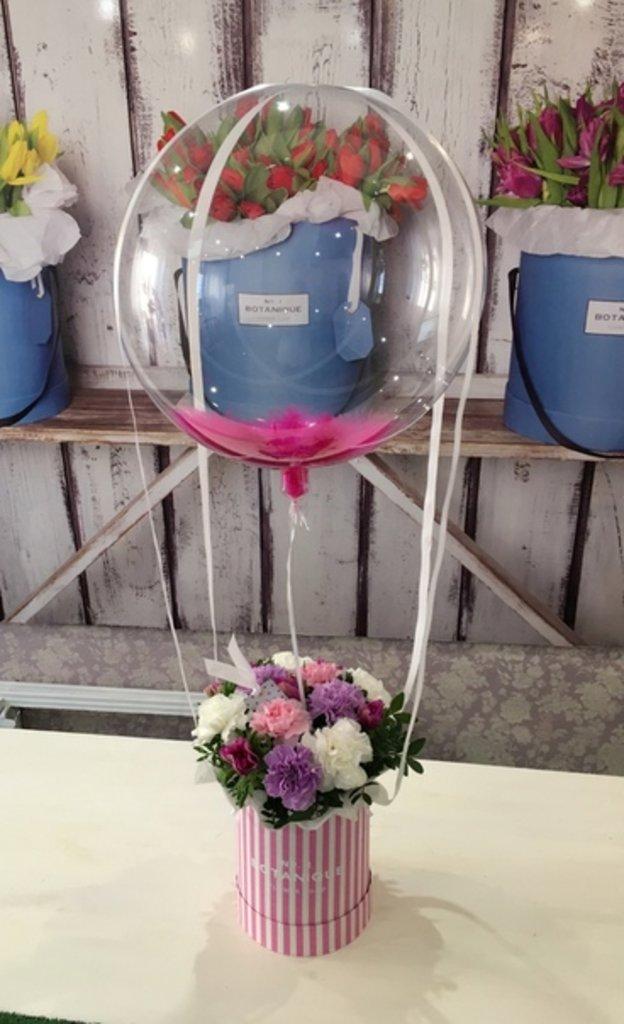 Букет-Шар: Букет - воздушный шар! (средний) в Botanique №1,ЭКСКЛЮЗИВНЫЕ БУКЕТЫ
