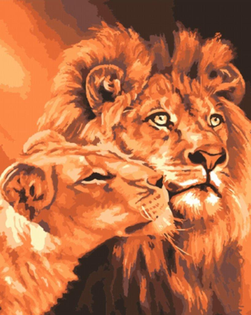 Картины по номерам: Картина по номерам Paintboy 40*50 Львиная семья GX7279 в Шедевр, художественный салон