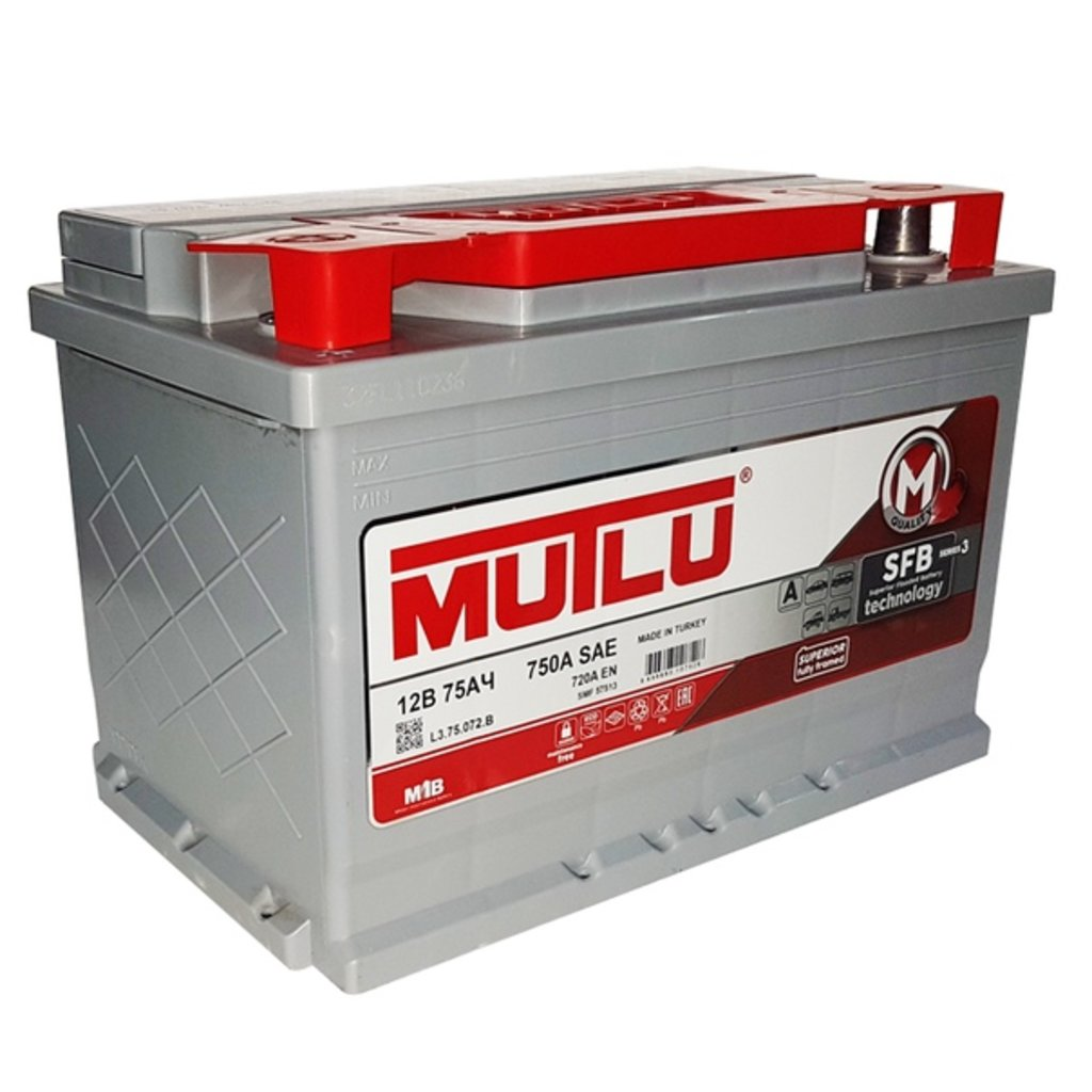 MUTLU: Аккумулятор MUTLU 6CT - 75 в БазаАКБ