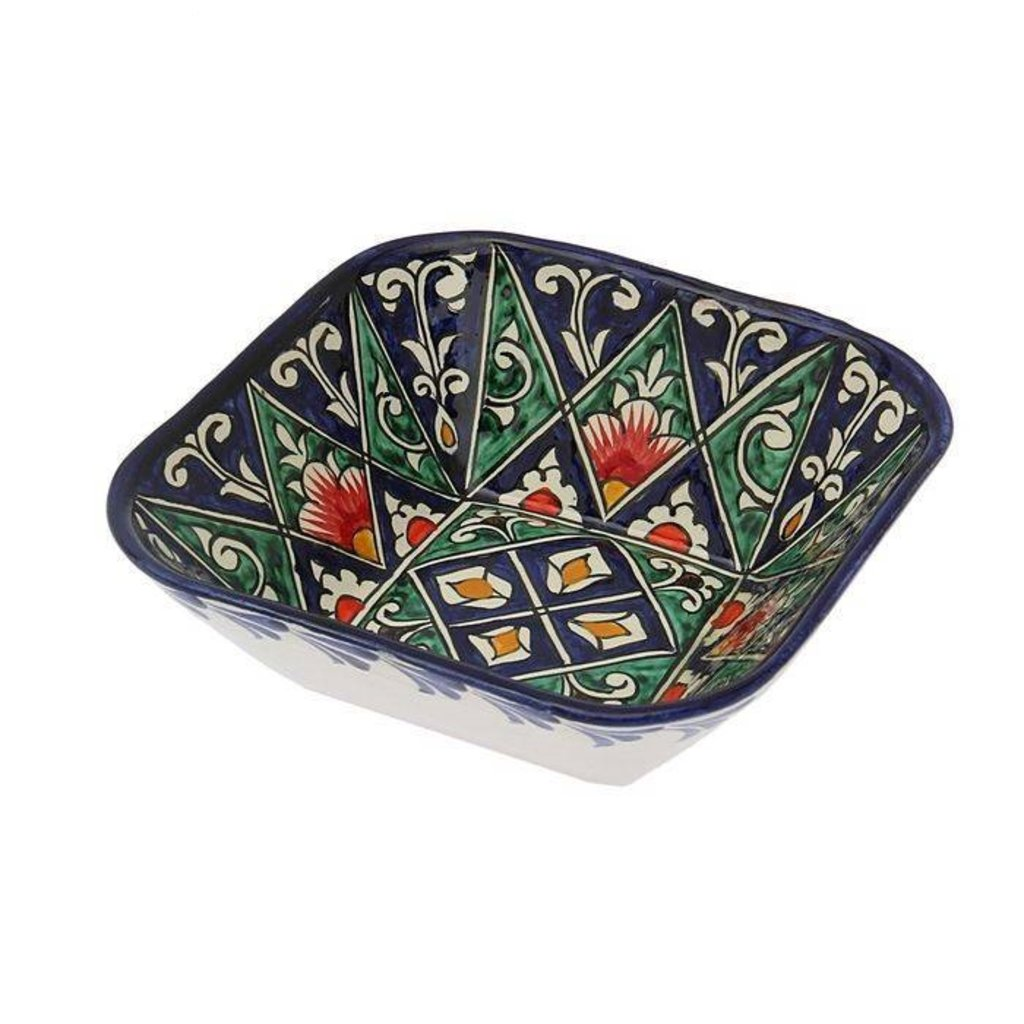 Казаны. Узбекская и турецкая посуда: Салатница квадратная Риштанская керамика в Сельский магазин