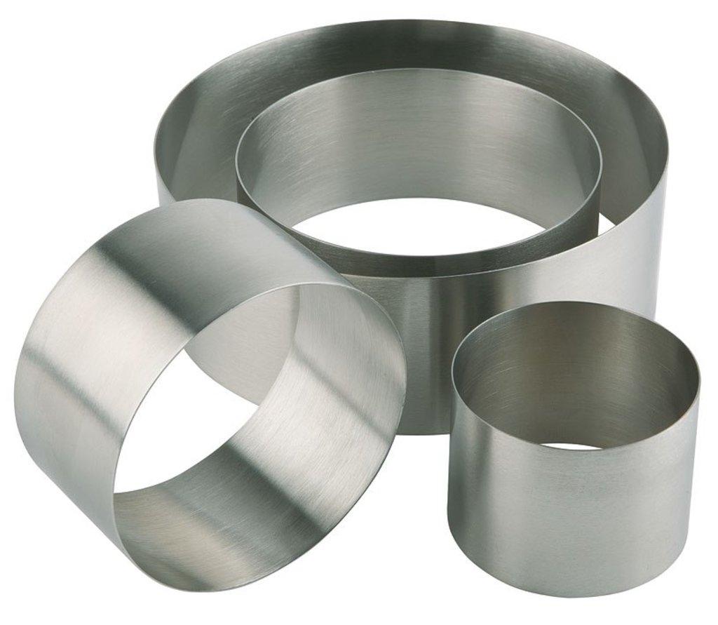 Кольца для выпечки и выкладки: Кольцо для выпечки металлическое d=8см h=10см в ТортExpress